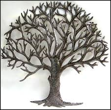 Small Picture Natural Metal Tree Wall Art Decoration Ideas Metal Tree Wall Art