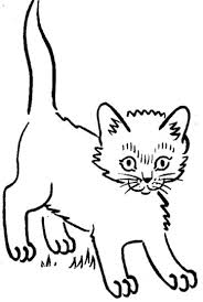 Small Picture Cute Kitten Coloring Pages Part 7