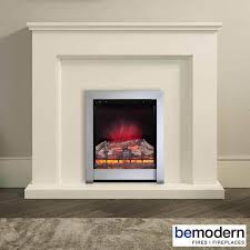 be modern newtown electric fireplace suite soft white timber surround