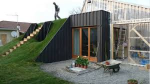 Houses Built Underground Shipping Container Homes Underground Youtube