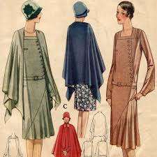 1920s Dress Patterns Unique 48s Dress And Cape Pattern McCall 48 48s Pinterest