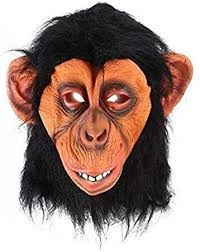Breathable <b>Funny</b> Big Ear Monkey <b>Halloween Funny</b> Animal <b>Hood</b> ...