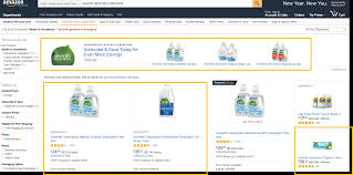 all about amazon marketing services leveraging paid search on in the screenshot above a search for seventh generation detergent results in a headline search ad and three sponsored products for seventh generation