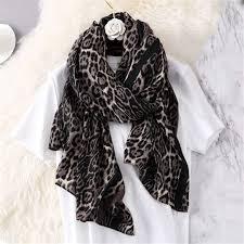Designer Shawls And Wraps Amazon Com Leopard Print Scarf Women Long Shawls Wraps