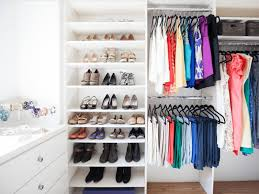 closet cleaning tips color coded