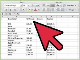 How To Make A Checkbook Register In Excel Create A Simple Checkbook Register With Microsoft Excel