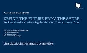 Waterfront Toronto 5 Year Vision For Torontos Waterfront