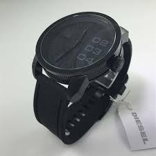 men s diesel blackout big oversized black watch dz1446