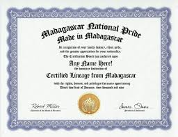 Nko Certificate Amazon Com Madagascar Malagasy National Pride Certification Custom