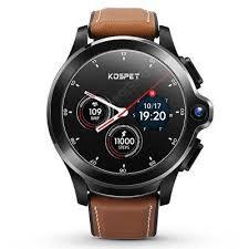 KOSPET Prime Face ID Dual Cameras 4G Smartwatch 1260mAh ...