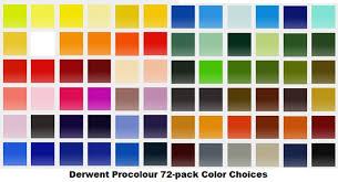 Derwent Procolour Lightfast Chart Derwent Procolour Colored Pencils Review Best Colored