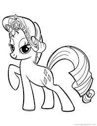 My Little Pony Rarity Coloring Pages Getcoloringpagescom