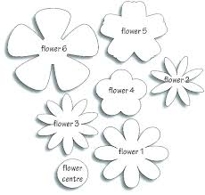 Paper Flower Template Pdf Printable Templates Paper Flower Download Them Or Print