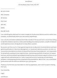 Business Advisor Covering Letter Example Learnist Org