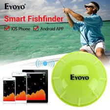 2019 <b>Eyoyo E1</b> Smart <b>Fish Finder</b> Sonar Echo Sounder Sea Lake ...