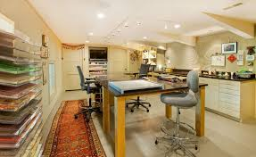 home office work table. Craft Room Design Ideas Home Office Contemporary With Scrapbooking Work Table Beige Doors