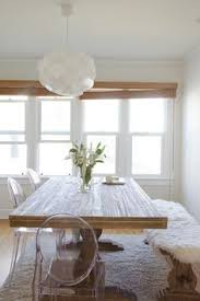 image result for kitchen table bench sheepskin rustic dining table with mix match chairskitchen