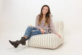 Emoji and Polka Dots Bean Bag Chair