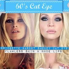 smokey 60 s cat eye bridgette bardot inspired makeup tutorial you