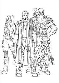 Print Gardiens Of The Galaxy 20 Kleurplaat Marvel Avengers
