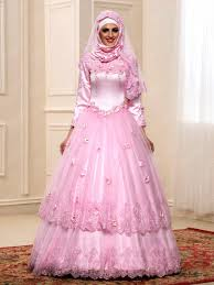 pretty applique beading a line floor length zipper up muslim