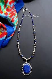 large lapis lazuli pendant necklace