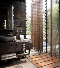 Weathered Wood | Reclaimed Wood | Stone Basin | Rustic Bath | Industrial  Design | Bathroom