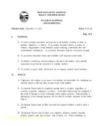 Incident Report Form Template Word Hospital Patient Dent