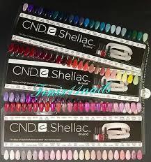 Cnd Shellac Salon Nail Tip Color Chart Palette 3pc Set