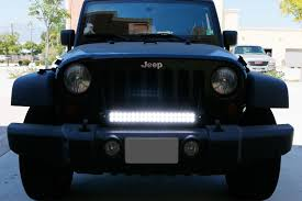 install ijdmtoy jeep wrangler front grill led light bar 7 steps
