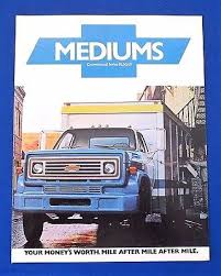chevy c io original 1976 chevrolet medium duty truck brochure c50 c60 c65 series ~12 pages
