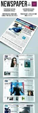 Free Indesign Newspaper Template Tabloid Size Newspaper Template Free Indesign Download