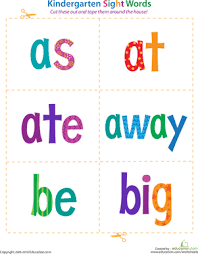 Designed specifically for young children, a great way to introduce basic colours. Kindergarten Sight Words Flash Cards Education Com