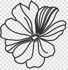 Free Download Flowers Ps Brushes Black Flower Illustration