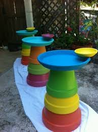 Pin by Myrna Blair on Garden, Backyard⛲ | Terra cotta pot crafts, Diy bird  bath, Clay pot crafts