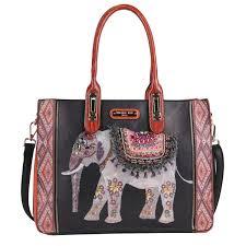 Elephant Designer Bag Aaliyah Majestic Rhinestone Elephant Tote Bag By Nicole Lee