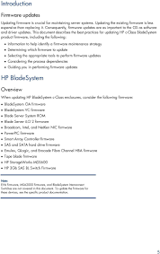 Hp Bladesystem Compatibility Chart Hp Bladesystem Proliant Firmware Management Best Practices