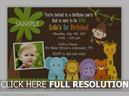1st Birthday Party Invitation Template Free Printable Safari Birthday Invitations Jungle Themed