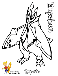 Small Picture Pokemon Empoleon Coloring Pages pokemon empoleon coloring pages