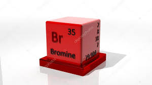 Bromine. 3d chemical element of the periodic table — Stock Photo ...