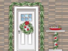 How To Hang Lighted Wreath On Door 3 Easy Ways To Hang Garland Around Your Front Door Wikihow