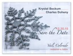 Save The Date Magnets Winter Lights Photo Magnetqueen
