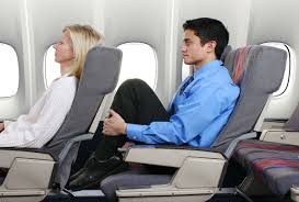 recline in your airplane seat