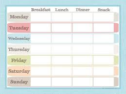 Weekly Meal Planner Template Breakfast Lunch Dinner