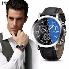 high quality lucky brand watches for men buy cheap lucky brand malloom men s business watch women luxury faux leather blue ray glass wrist watches mens brand quartz