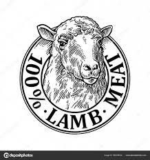 羊の頭100 天然 Wooll レタリングビンテージ ベクトル彫刻イラスト