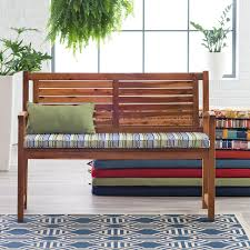 Outdoor Classic Outdoor Porch Swing And Bench Cushion 2 Ties To