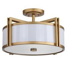 safavieh orb 3 light antique gold semi flush mount light