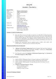 Mechanical Engineer Cover Letter For Cv Mechanical