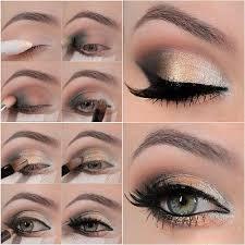 diy gold eye makeup
